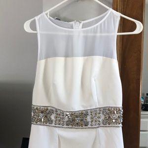 Bebe white hi low dress